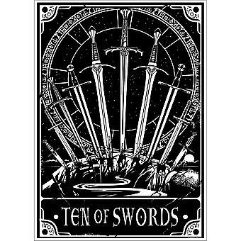 Deadly Tarot Ten Of Swords Poster