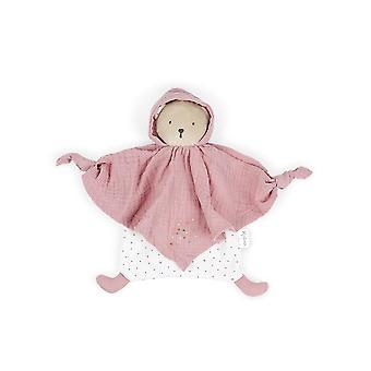 Kaloo organic cotton doudou bear pink