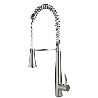 Alfi Brand Ab2039S Solid Stainless Steel Commercial Spring Kitchen Faucet With Pull Down Shower Spray
