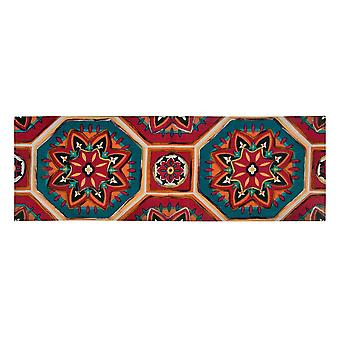Spura Home Oriental Hand Dip dye Felt Embroidery Transitional Runner 2x5 Rug