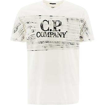 C.p. Företag 10cmts209a05697h103 Män's Vit Bomull T-shirt