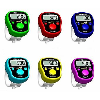 Magic Stitch Marker Row Finger Counter, LCD Electric Digital Display med Led