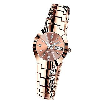 Fashion Casual Lovers Waterproof Steel Band Watches Simple Couple Watch Women