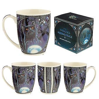 The witches apprentice cat lisa parker porcelain mug