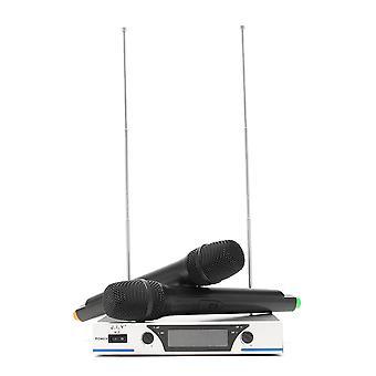 J.I.Y V-3 VHF 2 Channel Handheld Mic Home KTV Party Karaoke Wireless Microphone System