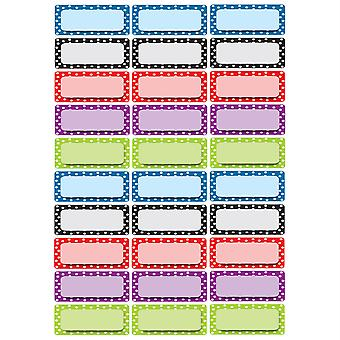 Die-Cut Magnetic Foam Color Dots Labels/Nameplates, Pack Of 30