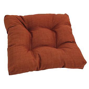 Coussin de chaise touffu en polyester filé de 19 pouces - Cannelle