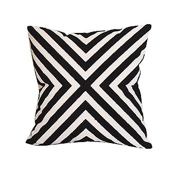 Modern Homes Embroidered Pillow
