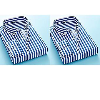 Pitkähihaiset muodolliset miesten's raidallinen mekko paidat