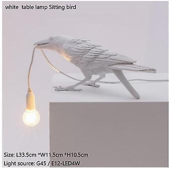 Lámpara de mesa de pájaro italiana seletti lámpara de pájaro moderna lámpara de escritorio de resina para la sala de estar pared de luz sconce decoración de arte casero
