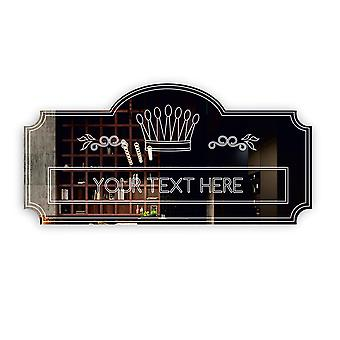 Custom Personalised Crown Plaque ANY TEXT Acrylic Mirror Door Sign