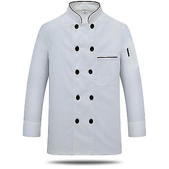 Free Logo Printing Unisex Chef Uniform Food Service Cook Jacket Coat