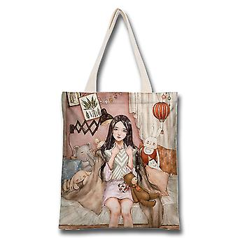 Fairy Girl Mori Style Canvas Bag Student Class Portable Environmental Protection Shopping Bag