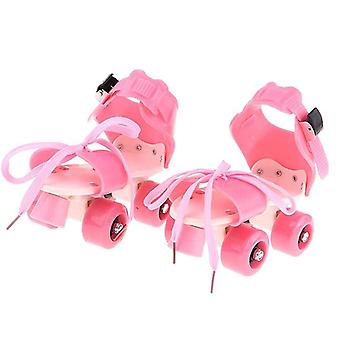 Children Roller Skates, Double Row Wheel Skating Shoes