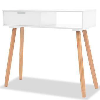Console Table Solid Pinewood 80x30x72 cm White