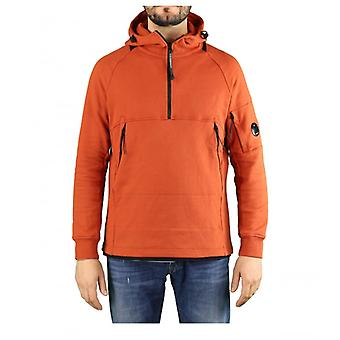 C.p. Empresa Diagonal levantou fleece queimado ochre hoodie