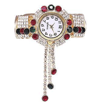 Ceas de mână cu brățară de lux rhinestone Ceas de mână