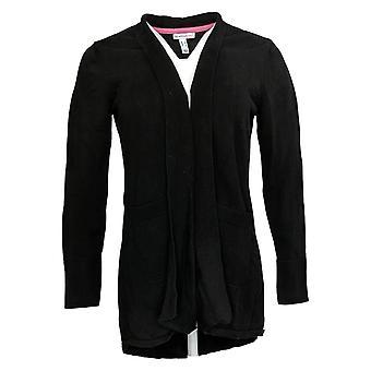 Isaac Mizrahi Live! Women's Sweater Hi-Low Black A392229