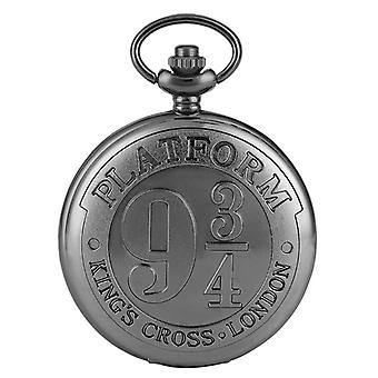 Cross London 9 3/4 Plataforma Quartzo Pocket Watch Bronze Full Hunter Colar