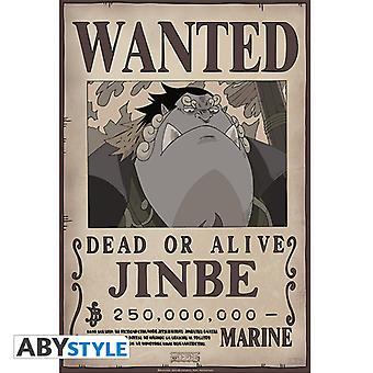 """חתיכה אחת - מבוקש Jinbe (52 x 35 ס""""מ) פוסטר קטן"""