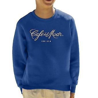 Cafe del Mar Classic White Logo Kid's Sweatshirt