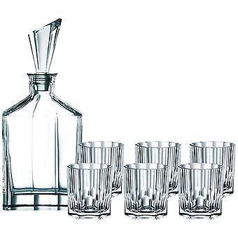 HanFei Spiegelau Nachtmann 90025, 7-teiliges Whisky-Set, 1 Dekanter+ 6x Whisky-Becher, Aspen