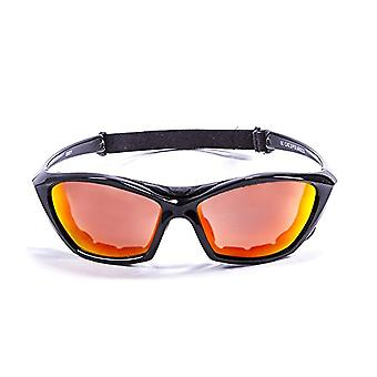 Ocean Sunglasses Lake Garda, Polarized Sunglasses, Frame: Bright White, Lenses: Mirrored Yellows, 13001.1