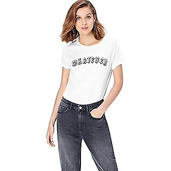 find. T-Shirt Print 'Whatever' Woman, White, 40