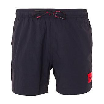 HUGO Dominica Recycled Crinkled Nylon Swim Shorts - Black