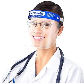 10x Visier Gesichtsschutz, Durchsichtige Visier mit Verstellbarem Gummiband und Komfortschwamm,