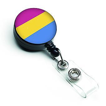 Carolines Treasures  CK8005BR Pansexual Pride Retractable Badge Reel