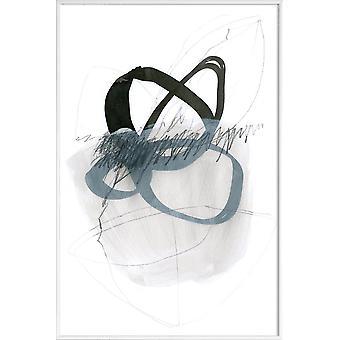 JUNIQE Print - Line and Shape - Abstract & Geometryczny Plakat w kolorze szarym & białym