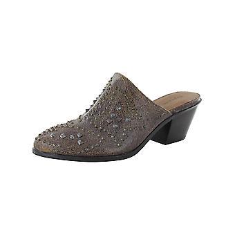 Frye & Co. Womens Phoenix Heeled Studded Mule Shoes