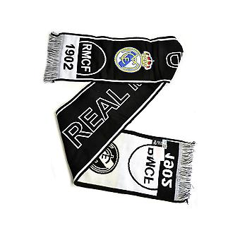 Real Madrid Black White Scarf RM4BUF12