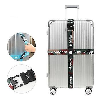 Luggage Strap Suitcase Band Three Digits Password Belt Luggage