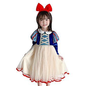 Snow White Dress Up Costume Girl Halloween Carnival Cosplay(120cm)