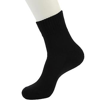 Winter Plus Velvet Men's Cotton Sports Socks White Thick Towel Bottom Tube Socks Sweat-absorbent And