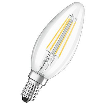 Osram LV330511 LED 40W Filament Clear Glass Candle SES Bulb - 2 Pack