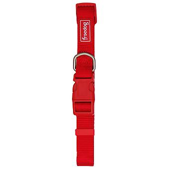 Freedog Basic Red 10mm Nylon Collar (Dogs , Collars, Leads and Harnesses , Collars)