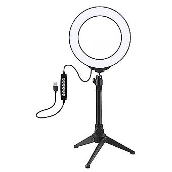 Puluz Pkt3048 Rgbw 8 Colore 16cm 6.2 Inch Led Video Ring Light con supporto treppiede per Youtube Tik Tok Live Streaming