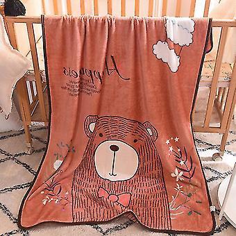 Babies Children Blanket 100x140cm Cartoon Cute Throw Kids Pet on Crib Plane Sofa Bed Crib Use(Cloud