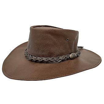 Jacaru 1001p premium känguru läder hatt