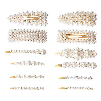 Pearl Hajtű, 12db mesterséges gyöngyház klip esküvőre Születésnap Valentin-napi ajándék stílus eszközök