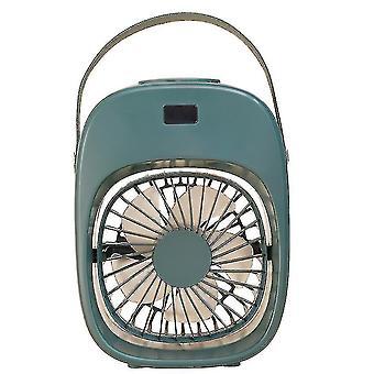 High quality portable household mini air conditioning fan usb 200ml spray humidifier green #4654