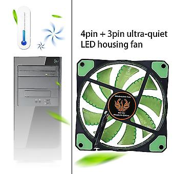 120mm Led Ultra Silent Computer Pc Case Fan 15 Leds 12v Easy Installed