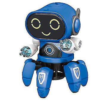 Fai da-sei anni Musica leggera elettrica danza robot intelligente a sei mascelle (Blu)
