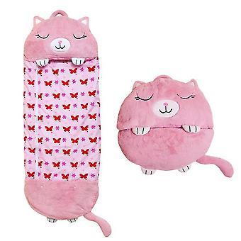 160CM * 60CM Söt rosa kattbarn sovsäck för barn