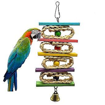 Parkiet kauwen speelgoed papegaai vogel bijt swing maïs bal