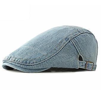 Denim flad kasket hat mænds forår sommer nødstedte cowboy hat