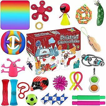 24-piece Christmas Countdown Calendar Adult And Child Decompression Toys